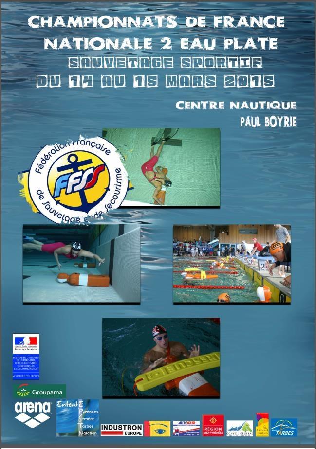 Championnat de france n2 de sauvetage eau plate tarbes 2015