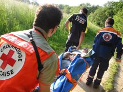 Exercice inter-associatif Protection Civile/Croix rouge/FFSS